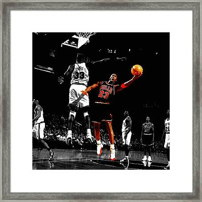 Michael Jordan Left Hand Framed Print by Brian Reaves