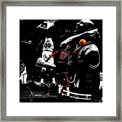 Michael Jordan Life Of Excellence Framed Print