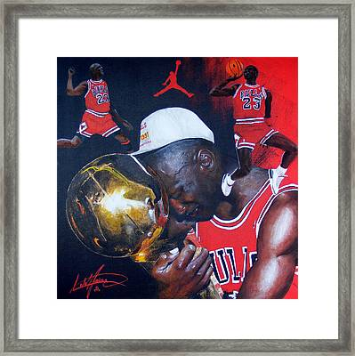 Michael Jordan Framed Print by Luke Morrison