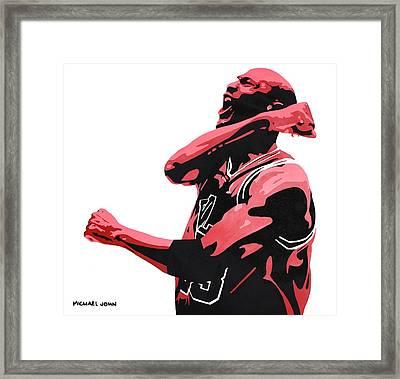 Michael Jordan Framed Print by Michael Ringwalt