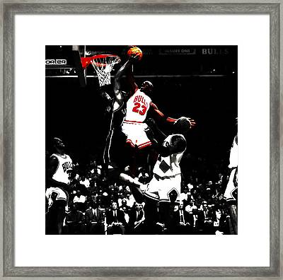 Michael Jordan Not In My House Framed Print