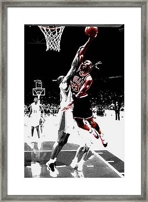 Michael Jordan Over The Top Framed Print