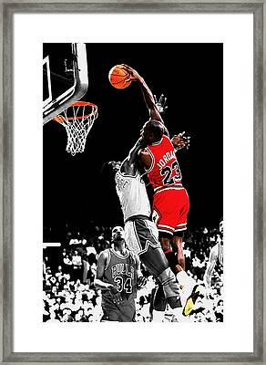 Michael Jordan Power Slam Framed Print by Brian Reaves