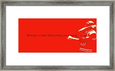 Michael Jordan Quote 1b Framed Print