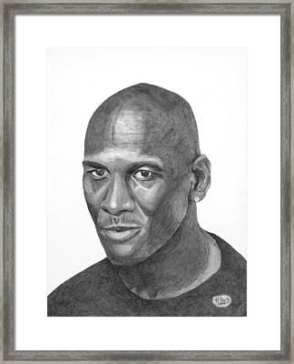 Michael Jordan Framed Print by Randy Reed