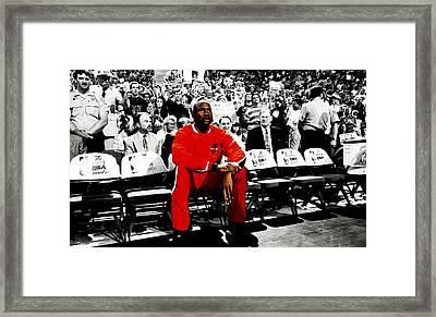 Michael Jordan Ready To Go Framed Print by Brian Reaves