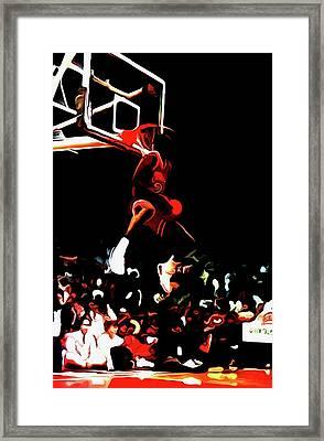 Michael Jordan Reverse Slam Dunk 2 Framed Print by Brian Reaves