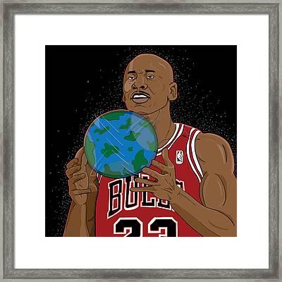 Michael Jordan  Framed Print by Shaad Huron
