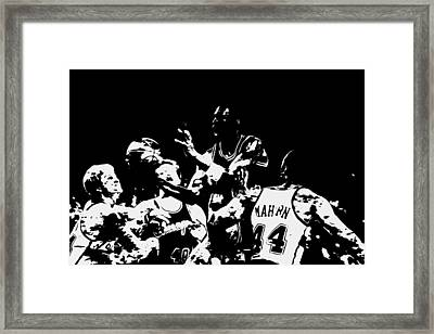Michael Jordan Style And Grace Framed Print by Brian Reaves