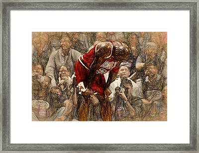 Michael Jordan The Flu Game Framed Print by John Farr