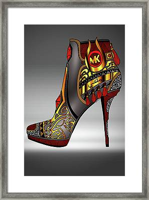 Michael Kors Shoe Illustration No. 2 Framed Print by Kenal Louis