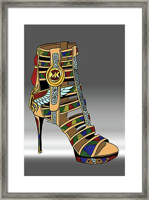 Michael Kors Shoe Illustration No. 3 Framed Print by Kenal Louis