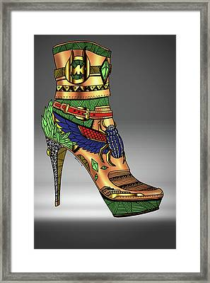 Michael Kors Shoe Illustration No.1 Framed Print by Kenal Louis