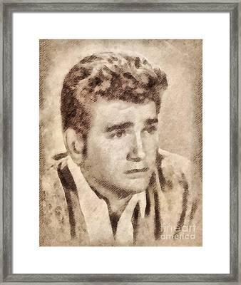 Michael Landon, Actor, Little House On The Prairie Framed Print by John Springfield