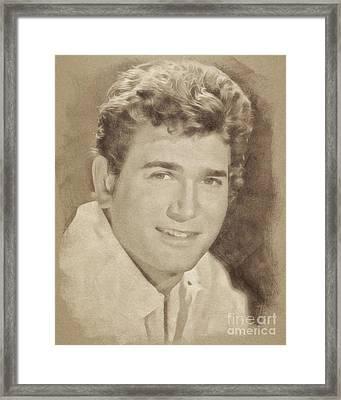 Michael Landon, Vintage Actor By John Springfield Framed Print