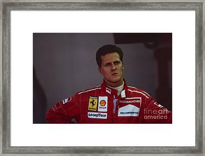 Michael Schumacher. 1996 British Grand Prix Framed Print by Oleg Konin