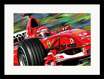 Grand Prix Racing Framed Prints
