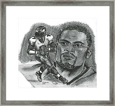 Michael Vick Framed Print