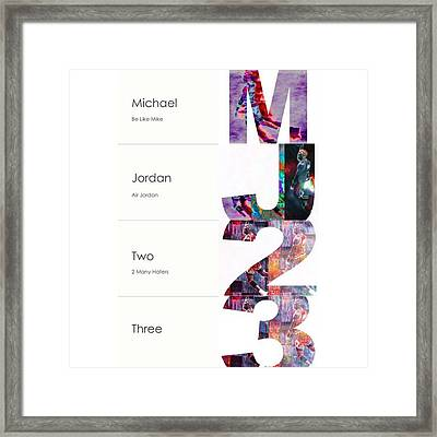 #michaeljordan #jordan #airjordan #nike Framed Print by David Haskett
