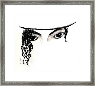 Michael's Eyes Framed Print by Melody Anderson