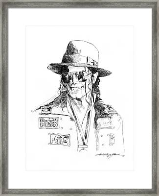 Michael's Jacket Framed Print by David Lloyd Glover