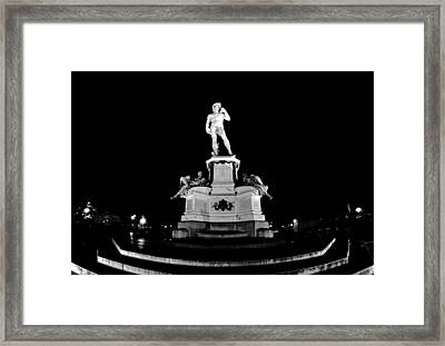 Michelangelo At Night Framed Print