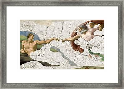 Michelangelo Creation Digital Framed Print