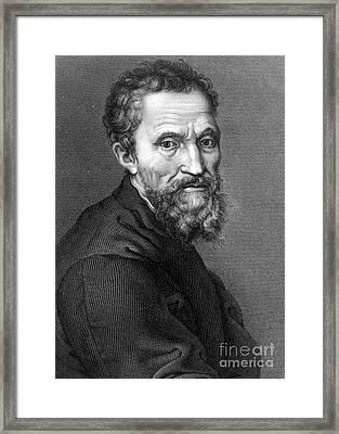 Michelangelo, Italian Renaissance Man Framed Print by Science Source