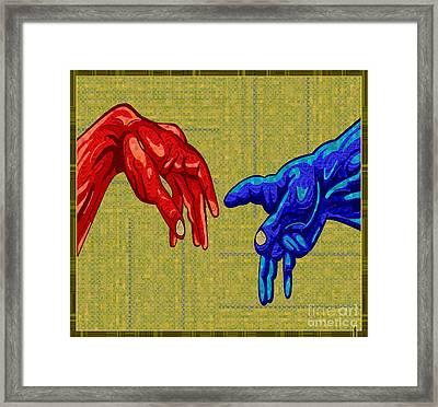 Michelangelo Tribute Framed Print