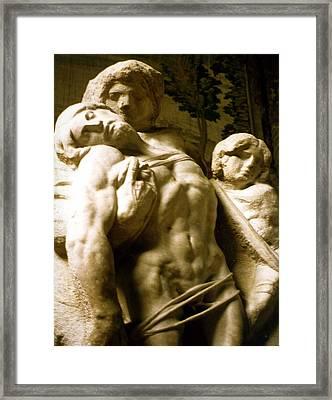 Michelangelo Unfinished Work Framed Print