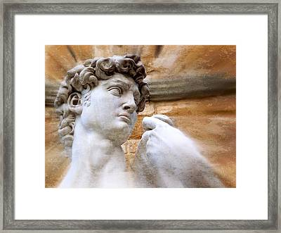 Michelangelo's David 2  Framed Print by Jen White