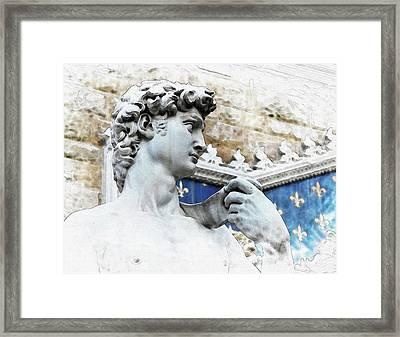 Michelangelo's David - By Diana Van Framed Print