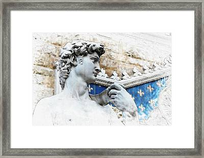 Michelangelo's David - By Diana Van Framed Print by Diana Van
