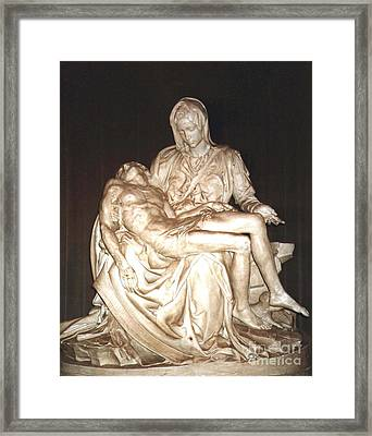 Michelangelo's First Pieta  Framed Print