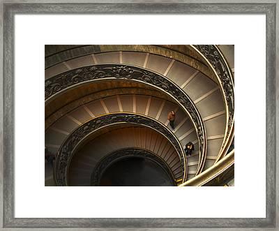 Michelangelo's Spiral Stairs Framed Print