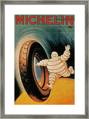 Michelin Tires Vintage Art Poster Framed Print by Design Turnpike