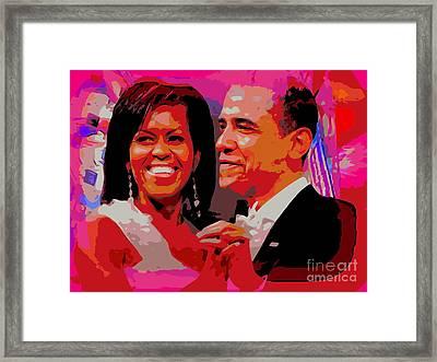 Michelle And Barack Framed Print