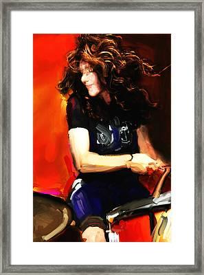 Michelle Mangione Framed Print by James VerDoorn