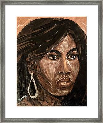 Michelle Obama A Class Act Framed Print by Deborah Stanley