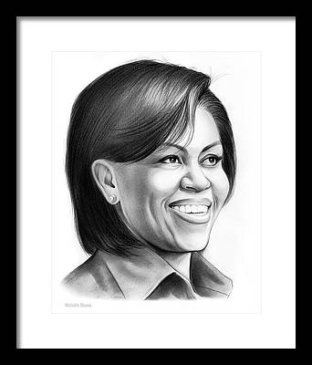 American First Lady Framed Prints