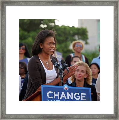 Michelle Obama Framed Print by Richard Pross