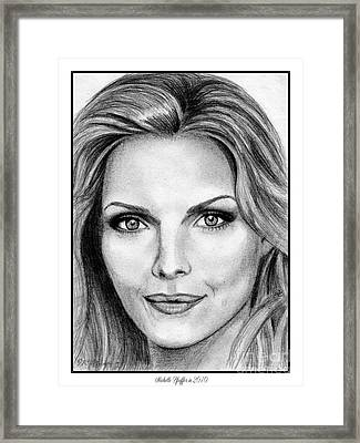 Michelle Pfeiffer In 2010 Framed Print by J McCombie
