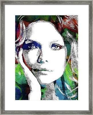 Michelle Pfeiffer Framed Print by Mihaela Pater
