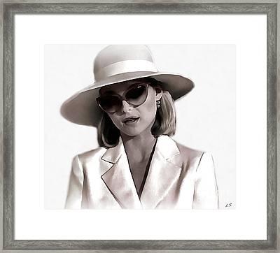 Michelle Pfeiffer Framed Print by Sergey Lukashin