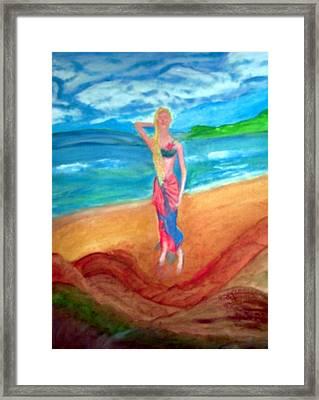 Michelle Framed Print by Stanley Morganstein