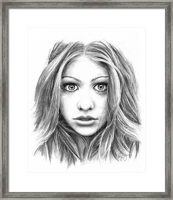 Michelle Trachtenberg Framed Print by Ryan Jones