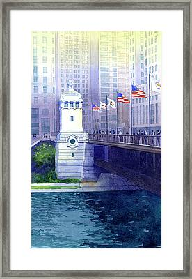 Michigan Avenue Bridge Framed Print