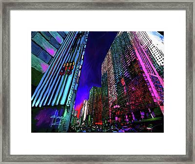 Michigan Avenue, Chicago Framed Print