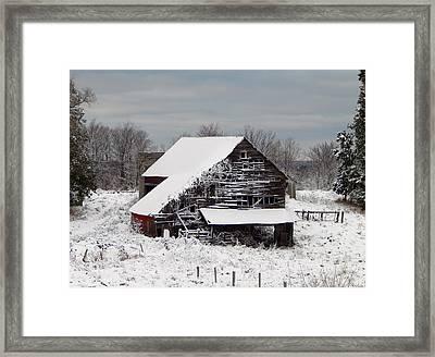 Michigan Barn Framed Print by Patrick Murphy