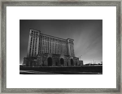 Michigan Central Station At Midnight Framed Print by Gordon Dean II